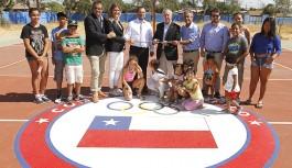 Comité Olímpico de Chile entregó multicancha a colegio en La Florida