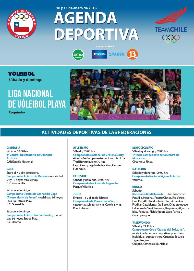 Agenda deportiva 10 y 11 de febrero de 2018-01