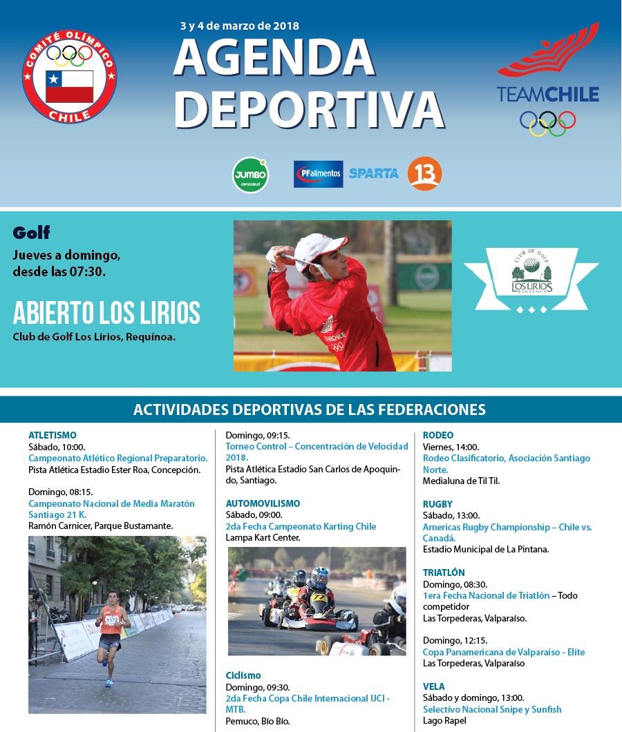 Agenda-deportiva-3-y-4-de-marzo-de-2018